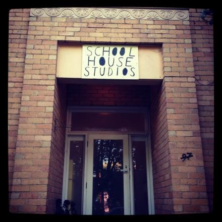 The entrance to Schoolhouse Studios, Abbotsford, Melbourne Australia
