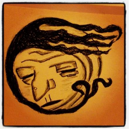My Illustration of Baba Yaga's Face